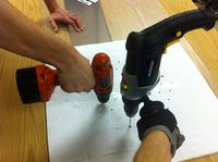 Drilling large and small pilot holes